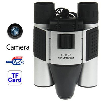 YANGJIAN 10 × 25 mm 5 in 1 (Fernglas-Kamera + Videokamera + Digitalkamera + PC-Kamera + TF-Kartenleser) Fernglas for Digitalkameras, Sichtfeld: 101 m / 1000 m, Größe: 135 × 100 × 24 mm
