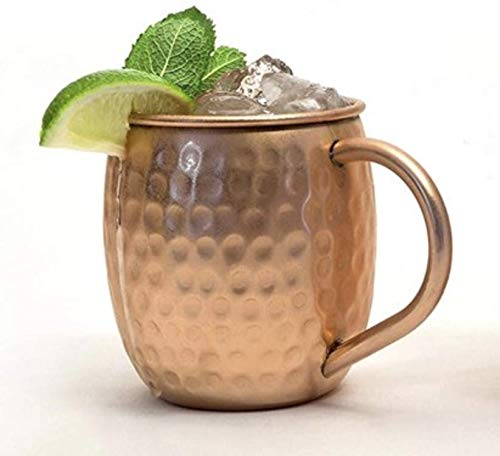 The Cocktail Box Co. - 100% Pure Copper Mugs (Set of 2) 16 Ounce Set