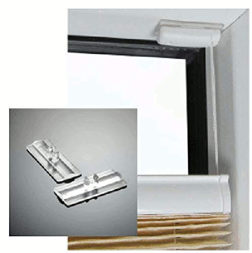 stick & fix Klebeplatten für Cosiflor Plissee Faltstores verspannt zur Klebe Montage im Fensterfalz ohne Bohren und Werkzeug, 4 Klebeplatten für 1 Plissee VS 2 verspannt inklusive Reinigungstuch