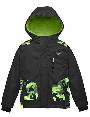 Wantdo Boy's Waterproof Warm Winter Coat Thick Outdoor Hiking Jacket Black 14/16