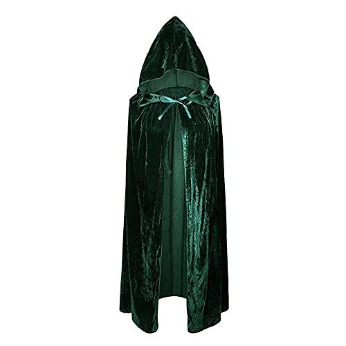 JGHPP Disfraces De Halloween Capa Disfraz De Cosplay Disfraz De Actuación De Fiesta Capa De Bruja Capa De Bruja Disfraz De Mago