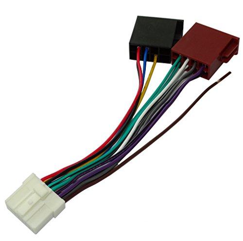 AERZETIX H3ISO-Konverter/Adapter Kabel Radio Adapter Radio-Anschluss ISO-Kabel Anschluss Kabel für Panasonic