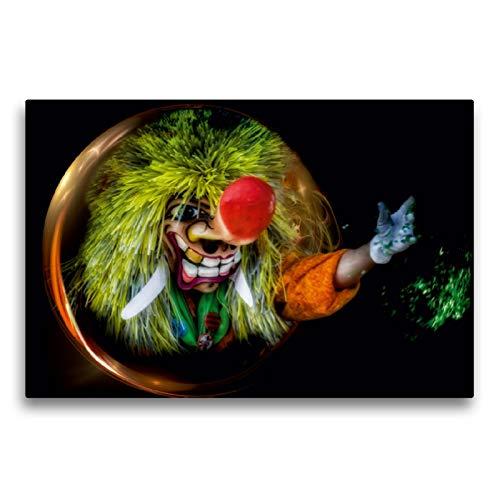 Premium Textil-Leinwand 75 x 50 cm Quer-Format Die Waggis in Basel | Wandbild, HD-Bild auf Keilrahmen, Fertigbild auf hochwertigem Vlies, Leinwanddruck von Alain Gaymard