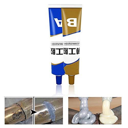 Pegamento de soldadura mágico Industrial de alta resistencia al calor, soldadura en frío, pasta de reparación de metal, adhesivo para ruedas, sellador agrietado 65g