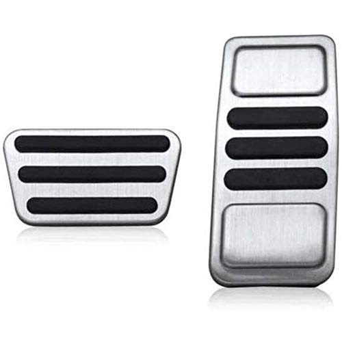 ZHHRHC Car Aluminum Alloy Brake Foot Pedal Pad Cover,for Ford Mustang 2015-2019