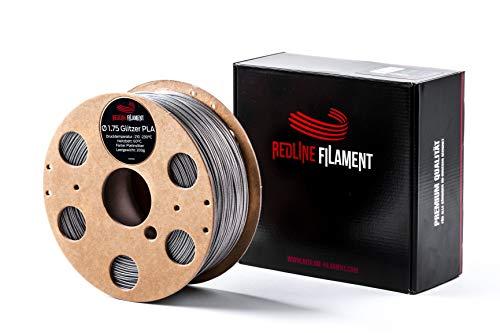Filamento de purpurina PLA de 1,75 mm para tu impresora 3D, bobina de cartón duro, calidad prémium de Holanda (platino)
