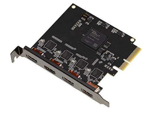 Scheda PCIe per la cattura di flusso HDMI registra fino a 4 flussi contemporaneamente, senza compressione, compatibile con HD e 4K.
