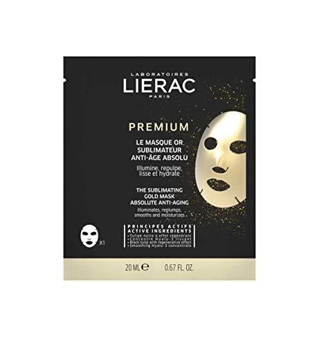 Lierac Premium Maschera Oro Sublimante anti Età per il Viso con Acido Ialuronico, per Tutti i Tipi di Pelle, Formato da 20 ml