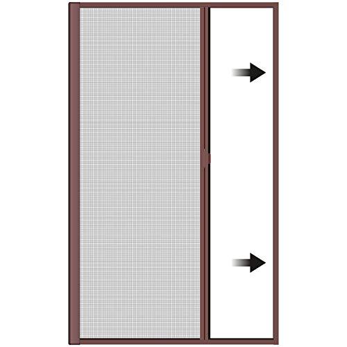 Incubado 1PLUS Premium Aluminium Insektenschutz Rollo für Türen in verschiedenen Größen und Farben Farben (120 x 225 cm, Braun)