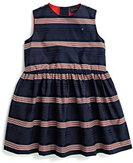 Tommy Hilfiger girls Sleeveless Dress with Magnetic Buttons and VELCRO Casual Dress