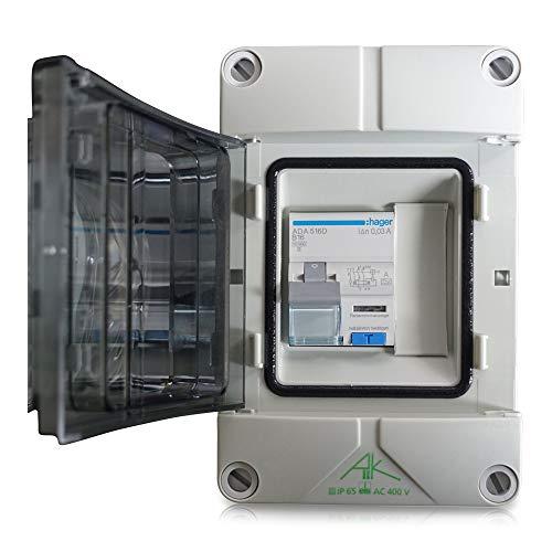 grenda-hammer® Conector de corriente para barcos/distribuidor con Hager FI-LS protección interruptor B16A 30 mA