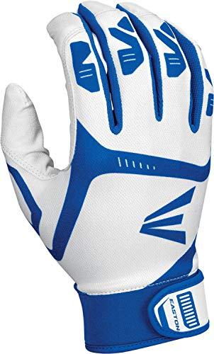 EASTON GAMETIME Batting Gloves, Pair, Youth, Small, White / Royal