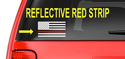 Sticker-Designs 15cm! Klebe-Folie Wetterfest Made-IN-Germany Amerika USA Flagge Fahne rot Red-Line Firefighter Feuerwehr D61 UV&Waschanlagenfest Auto-Aufkleber Profi-Qualität!