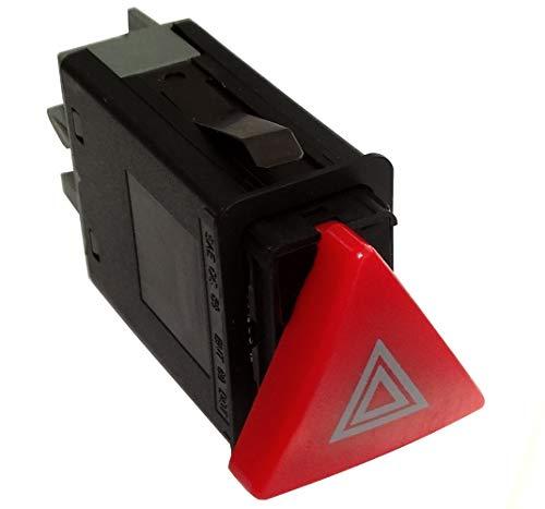AERZETIX: Interruptor botón para Luces de Emergencia C40930 Compatible con 1U0953235B