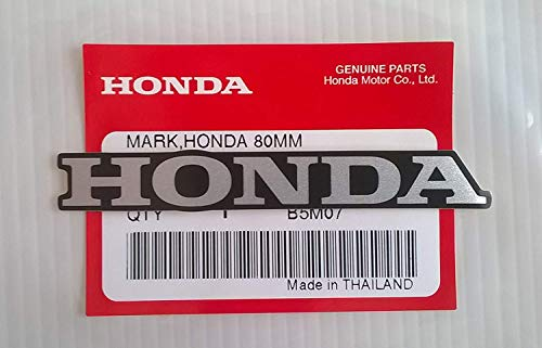 "Honda 'Mark "" 80mm X 11mm Pegatina Plata/Negro 100% Original"
