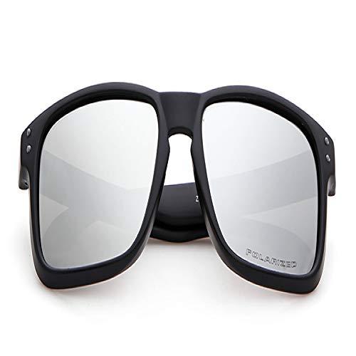 Europa y los Estados Unidos deportes gafas de sol polarizadas gafas de montar al aire libre gafas de sol de pesca marco de plata negro