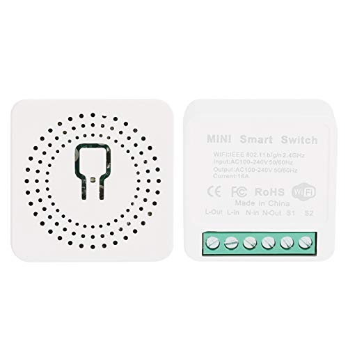 needlid Módulo de Interruptor Inteligente WiFi, Control de teléfono Inteligente Interruptor eléctrico WiFi Equipo Inteligente Interruptor de Control Remoto para Caja de Interruptor de Pared