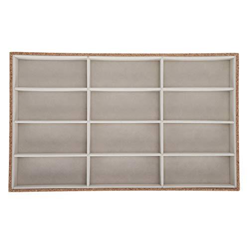 Caja de almacenamiento de gafas Bandeja de exhibición elegante de madera para gafas de sol.