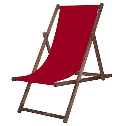 SPRINGOS Chaise longue de jardin pliable - Pour la relaxation - Pour la maison et le jardin - Bordeaux