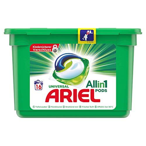 Ariel All-in-1 PODS Universal Strahlend Rein – 16Waschladungen