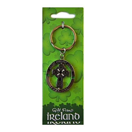 Celtic Cross Spinner Keyring