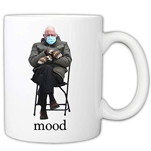 MyCuppaJoy Bernie Mittens - Taza de café (325 ml), diseño de Bernie Chair