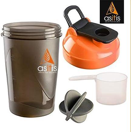 Asitis Nutrition AS-IT-is Shaker Bottle, 400 ml, Black