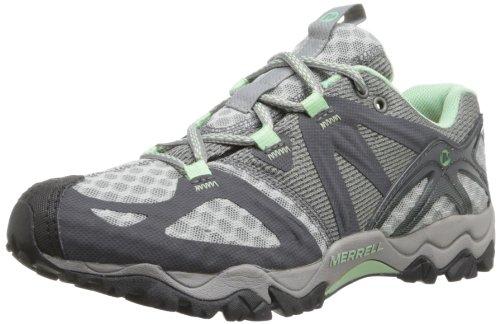 Merrell Women's Grassbow Air Trail Running Shoe,Granite/Mint,8 M US