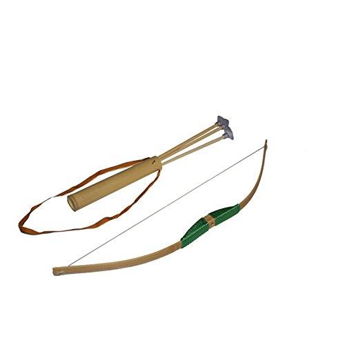 Juguetutto - Arco Piccolo con frecce a Ventosa - Verde - Giacattolo di Legno