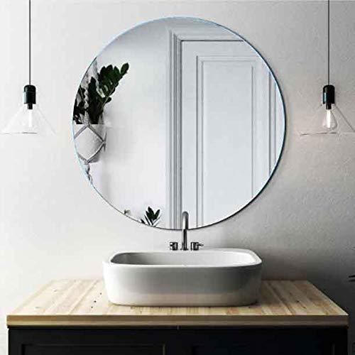 CustomGlass Espejo de Pared Redondo en Varias Medidas con Forma Circular para Colgar (Redondo 80 cm)