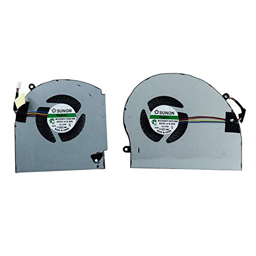CPU + GPU Cooling Fan Replacement for Alienware 17 R4 R5 Series Laptop P31E ALW17C 0K2PKV 04RFW1 MG75090V1-C060-S9A MG75090V1-C070-S9A