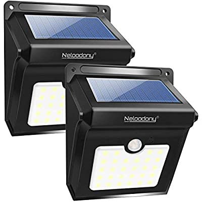 Solar Lights Outdoor LED Solar Motion Sensor Light Outdoor Wireless Waterproof Security Wall Lighting Outside for Front Door, Backyard, Steps, Garage, Garden,Deck