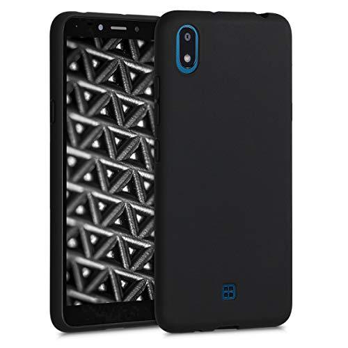 kwmobile Hülle kompatibel mit LG K20 (2019) - Hülle Silikon - Soft Handyhülle - Handy Hülle in Schwarz matt