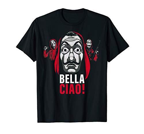 Netflix La Casa De Papel Masked Bella Ciao! T-Shirt