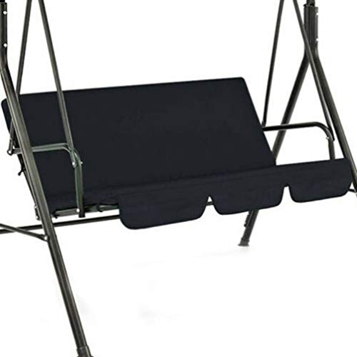 WXZQ Cubierta de Asiento de Columpio de Patio de jardín al Aire Libre Funda de Silla de Columpio de suspensión Impermeable Cojín de Silla de jardín de jardín Negro