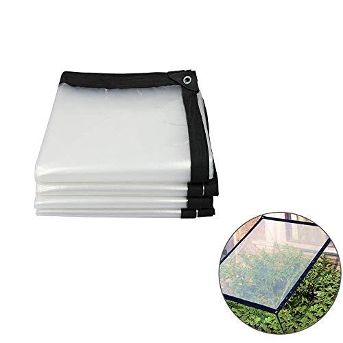 Transparente plane mit ösen,wasserdichte Plane Durchsichtig,Abdeckplane klar Plane Outdoor Camping Garten Balkon Regenvorhang Sonnenschutz Kunststoff StoffSchmutz/Regenplane mit Ösen