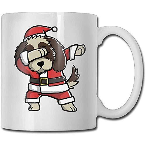 Tupfen Shih Tzu lelijke kerstmis grappige koffiemok coole koffie theekopje 11 oz perfect cadeau voor familie en vrienden