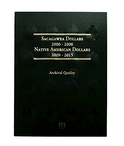 1-2000 – 2015 and 2016 – Present Sacagawea/Native American Dollar Coin 2 Folder Set – Holds 64 Coins – – –