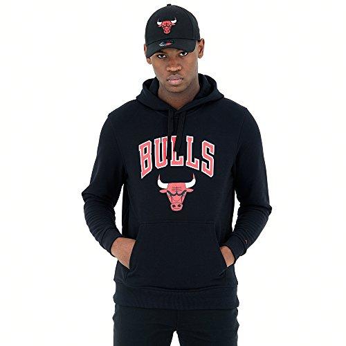 New Era Herren Herren Kapuzenpullover Chicago Bulls Kapuzenpullover, Schwarz, XXL, 11530761