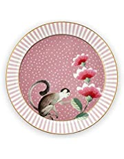 PiP Studio - Plato para bolsa de té - Rosa Majorelle - Porcelana - Diámetro 9 cm
