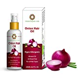 Global Organic India onion oil with black seed oil in purest form very effectively control hair loss, promotes hair growth 100% natural 200 ML