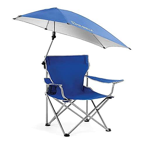 Kettles Sedie da Campeggio con Paralume Sedia a baldacchino Sedia da Sole Viaggi Campo di Viaggio Chai Chai Pieghevole Supporto reclinabile 160kg per Adulto All'aperto Pesca Festival Beach Travel