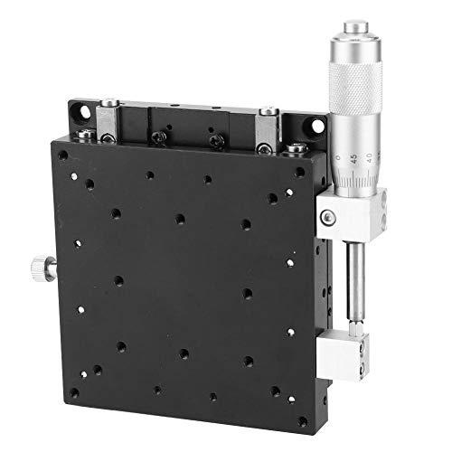 Plataforma de corte del eje X Micrómetro óptico Etapas lineales manuales Tabla de deslizamiento de ajuste de rodamiento LX100-L