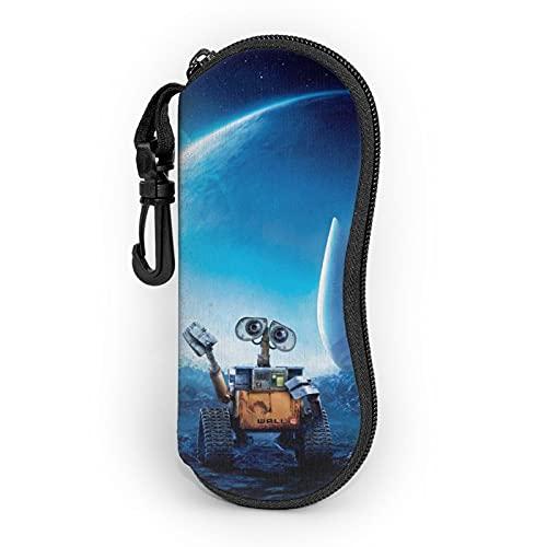 Wall-E - Funda para gafas, bolsa suave, ultraligera, diseño de personalidad, carpeta, mosquetón, gafas de sol para hombre y mujer