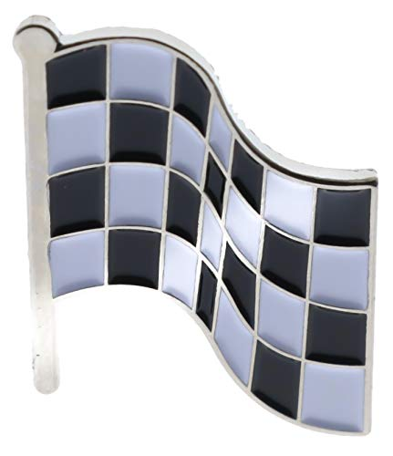 Checkered Race Flag Hat or Lapel Pin PMS225