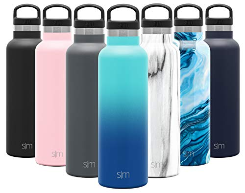 Simple Modern Ascent 590mL Botella de Agua de Acero Inoxidable con Tapa de Asa, Botella Termica con Boca Estrecha, Aislada al Vacío, Doble Pared, Termo sin BPA para Deporte o Viaje, Prueba de