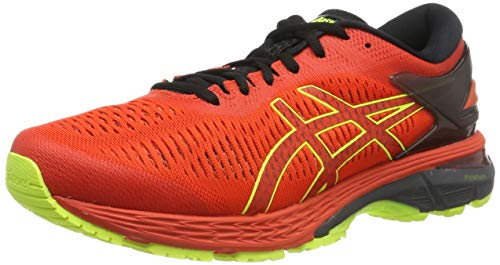 ASICS Gel-Kayano 25, Scarpe da Running Uomo, Rosso (Cherry Tomato/Safety Yellow 801), 43.5 EU