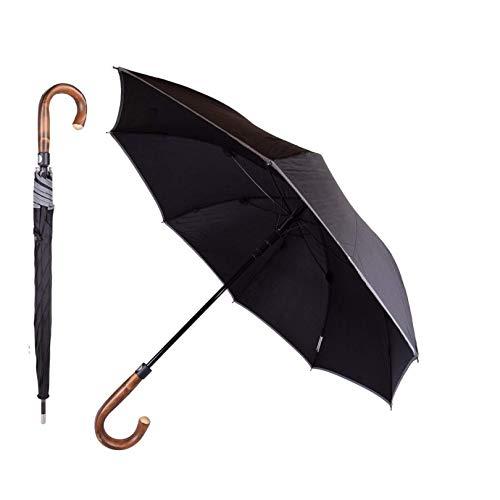 Paraguas de autodefensa con mango en forma de garfio e irrompible