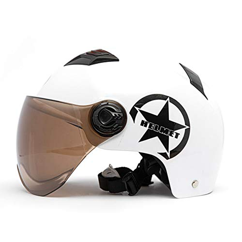 GoolRC- Casco de Moto Cara Medio Abierta Protección de tamaño Ajustable Cascos de Cabeza de Engranaje Unisex Rosa
