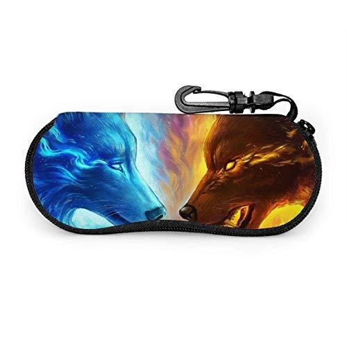 Hdadwy Estuche para anteojos, estuche para gafas de sol con cremallera de neopreno portátil de tortuga marina con bolsa para anteojos con gancho para exteriores